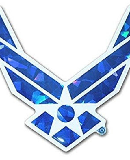 US Air Force Symbol Reflective Domed Decal