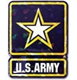 Mitchell Proffitt US Army Star Logo Reflective Domed Decal