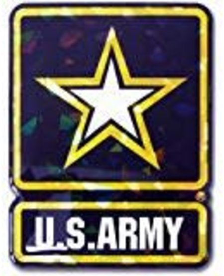 US Army Star Logo Reflective Domed Decal