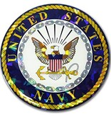 Mitchell Proffitt US Navy Crest Reflective Domed Decal