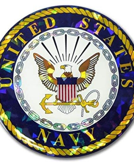 US Navy Crest Reflective Domed Decal
