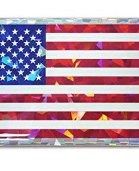USA Flag Reflective Domed Decal