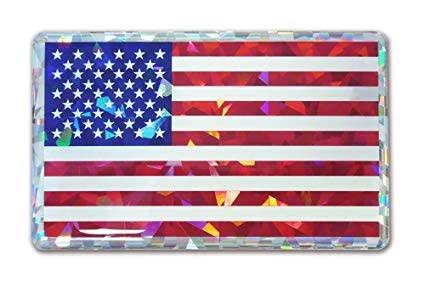 Mitchell Proffitt USA Flag Reflective Domed Decal