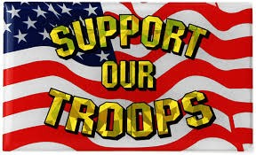 Mitchell Proffitt Support Our Troops USA Flag Reflective Domed Decal