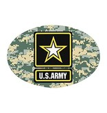 Mitchell Proffitt US Army Star on ACU Digital Camo Oval Magnet