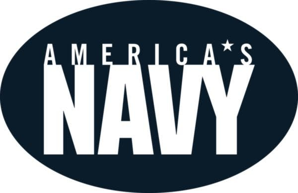 Mitchell Proffitt America's Navy on Oval Magnet