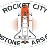 Mitchell Proffitt Rocket City Redstone Arsenal with Spaceship Oval Magnet