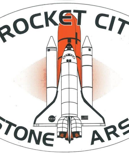 Rocket City Redstone Arsenal with Spaceship Oval Magnet