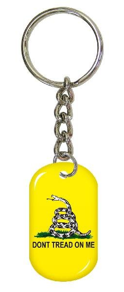 Ramsons Imports Don't Tread on Me Dog Tag Key Chain