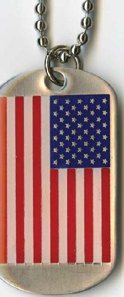 Ramsons Imports USA Flag Dog Tag Chain