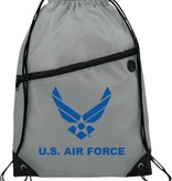 Mitchell Proffitt U.S. Air Force Symbol Drawstring Bag - Grey