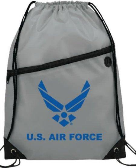 U.S. Air Force Symbol Drawstring Bag - Grey