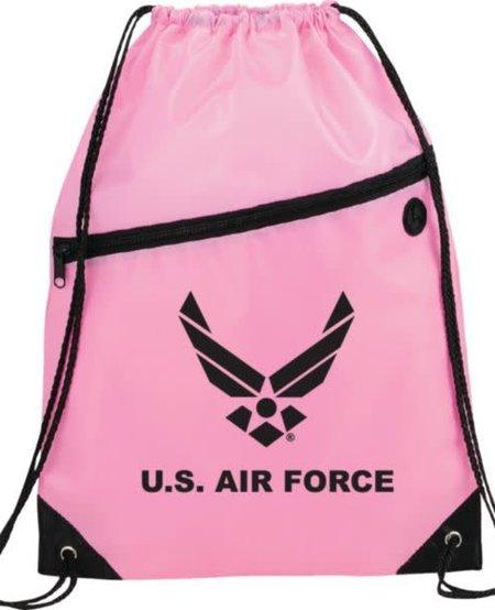 U.S. Air Force Symbol Drawstring Bag - Pink