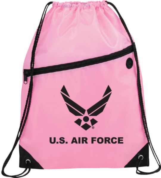 Mitchell Proffitt U.S. Air Force Symbol Drawstring Bag - Pink