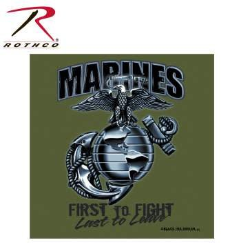 Rothco Marines First To Fight T-Shirt