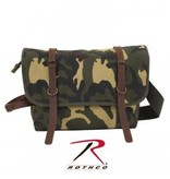 Vintage Canvas Explorer Shoulder Bag w/ Leather Accents