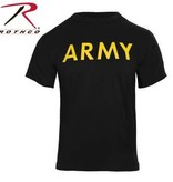 Rothco Army Physical Training Shirt - Black/Yellow