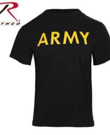 Army PT Shirt - Black/Yellow