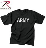 Rothco Army Black Physical Training T-Shirt - Reflective Grey