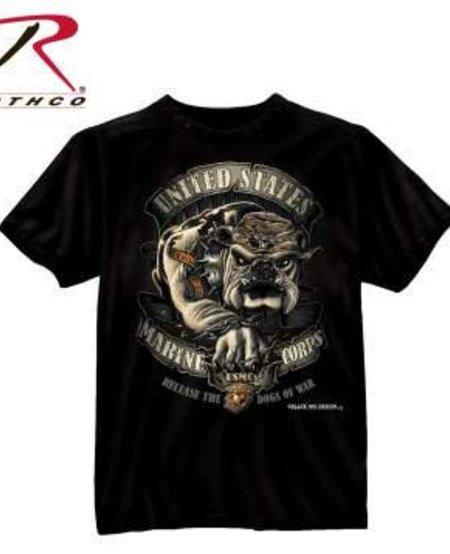 Black Ink U.S.M.C. Bulldog T-Shirt