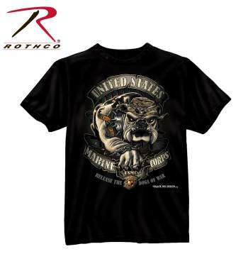 Rothco Black Ink U.S.M.C. Bulldog T-Shirt
