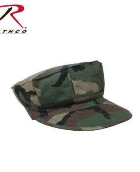 Marine Corps Cotton Rip-Stop Cap Witout Emblem - Woodland Camo