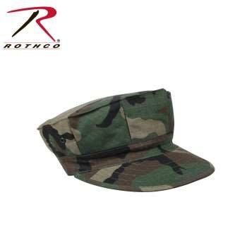 Rothco Marine Corps Cotton Rip-Stop Cap Witout Emblem - Woodland Camo
