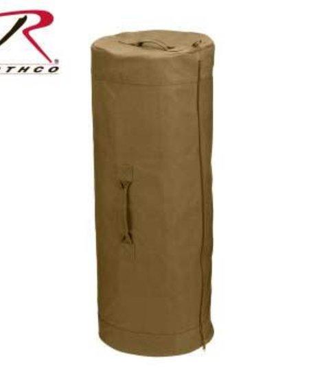 Canvas Duffel Bag with Side Zipper