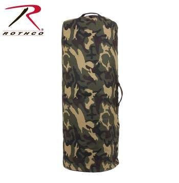 Rothco Canvas Duffel Bag with Side Zipper