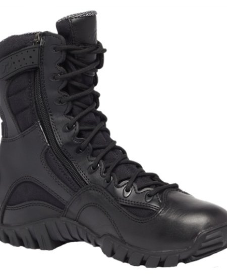Khyber TR960Z - Hot Weather Lightweight Side-Zip Tactical Boot - Black - 8""
