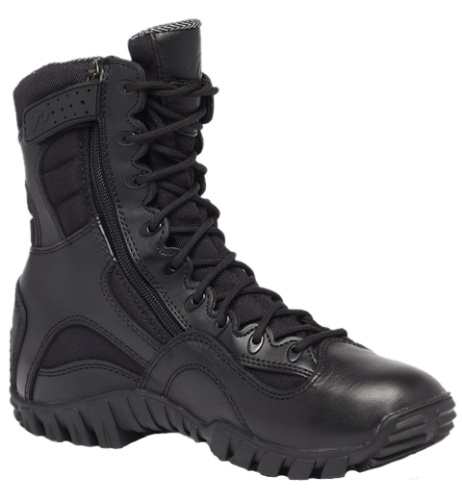 """Tactical Research Khyber TR960Z - Hot Weather Lightweight Side-Zip Tactical Boot - Black - 8"""""""