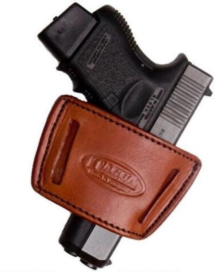 Tagua Waistband Holster - 1911/Keltec 380/Ruger LCP/ Bersa 380's - Brown Small Size - Right Handed