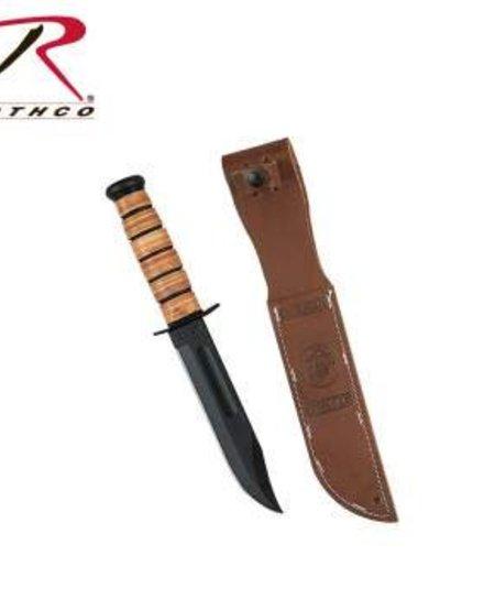 Genuine Ka-bar USMC Combo Edge Fighting Knife