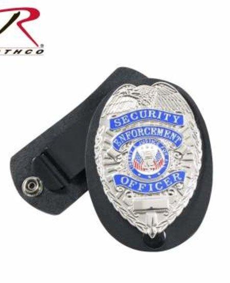Leather Clip-On Badge Holder