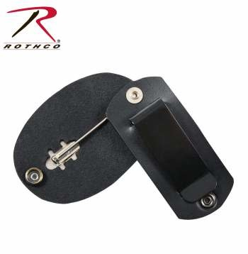 Rothco Leather Clip On Badge Holder/Swivel Snap