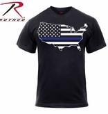 Rothco Thin Blue Line America Map T-shirt