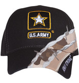Fox Outdoor Products US Army Black Barbwire Ball Cap