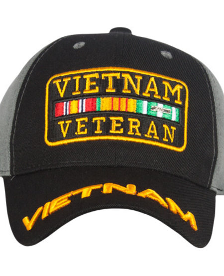 Vietnam Vet Embroidered Ball Cap