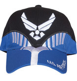 K & S Unique US Air Force Black/Navy Embroidered Ball Cap