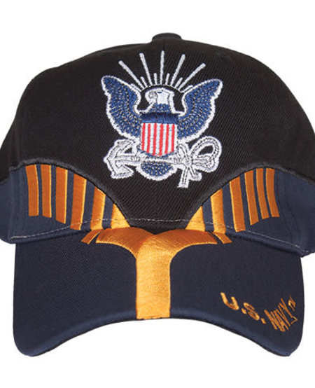 US Navy Black/Navy Embroidered Ball Cap