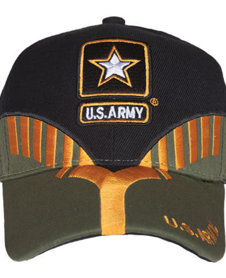 US Army Black/OD Embroidered Ball Cap