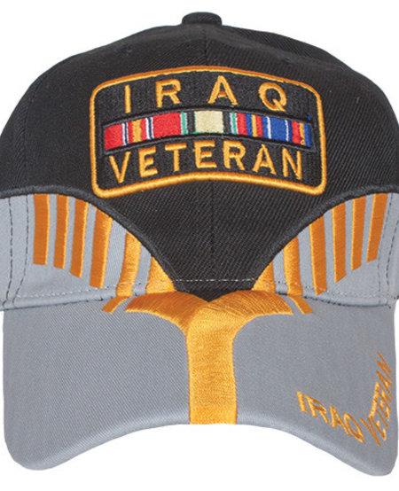 Iraq Veteran Black/Grey Embroidered Ball Cap