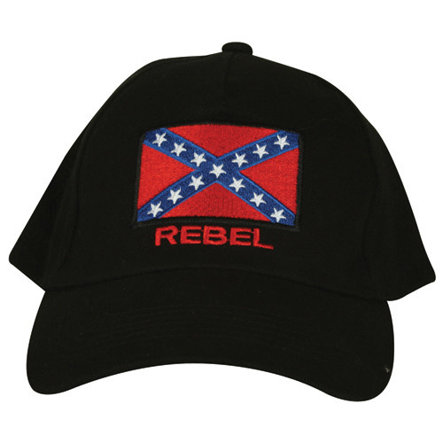 R x F Rebel Black Embroidered Ball Cap
