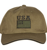US Honor USA Flag - Green Embroidered Ball Cap