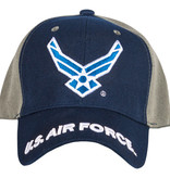 US Honor Air Force Navy/Grey Embroidered Ball Cap