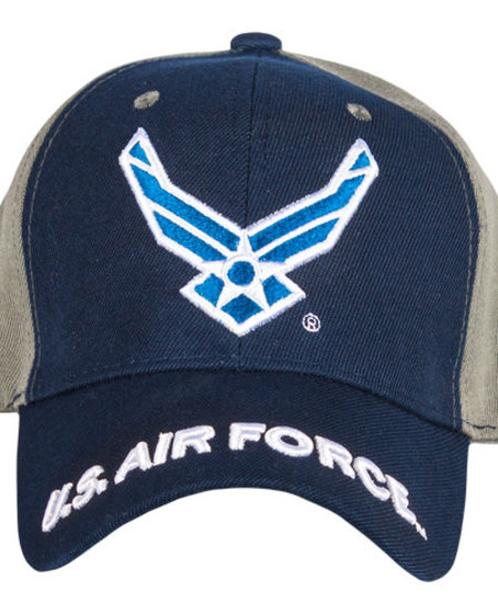 Air Force Navy/Grey Embroidered Ball Cap