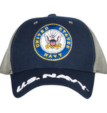 US Honor US Navy - Navy/Grey Embroidered Ball Cap