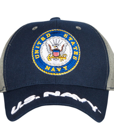 US Navy - Navy/Grey Embroidered Ball Cap
