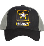 US Honor US Army- Black/Grey Embroidered Ball Cap