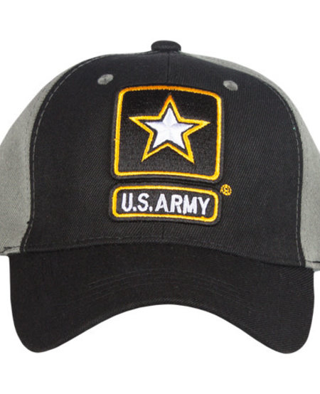 US Army- Black/Grey Embroidered Ball Cap